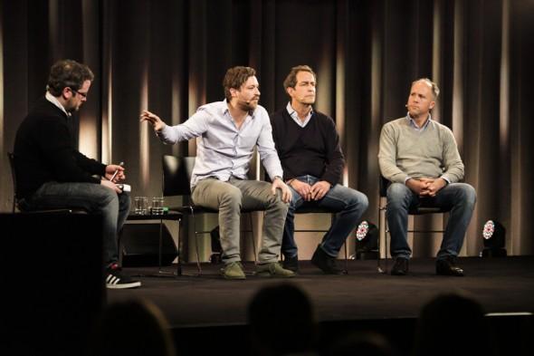 Florian Meissner (EyeEm), Stefan Glänzer (Passion Capital) und Jason Whitmire (Earlybird Venture Capital)